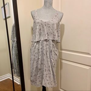 "Babaton Aritzia ""Ronnie"" silk dress (gray)"